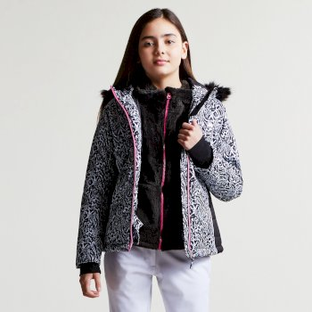 Dare2b Kids Muse Luxe Ski Jacket Black Animal Print