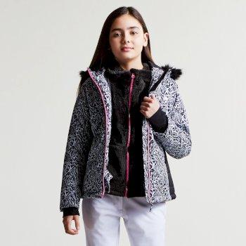 Dare2b Kids Muse Luxe Ski Jacket Black Animal Print
