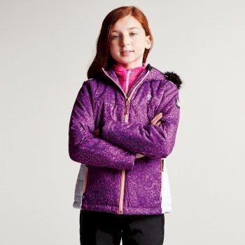 Dare2b Kids Muse Luxe Ski Jacket Ultra Violet Purple Leopard Print