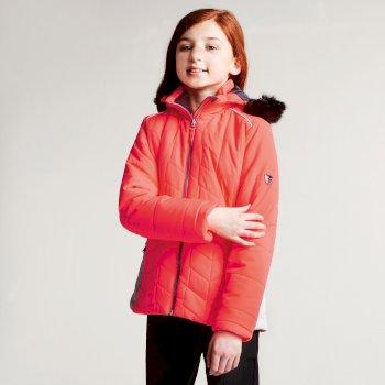 Dare2b Kids Prodigal Luxe Ski Jacket Fiery Coral