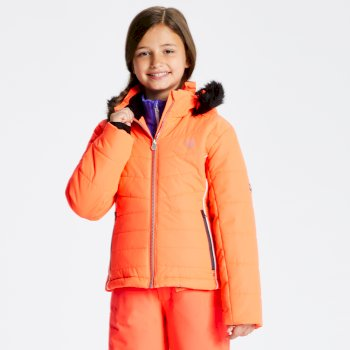 Predate - Mädchen Skijacke Fiery Coral