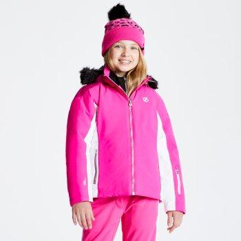 Vast - Mädchen Skijacke - Kunstfellbesatz & Kapuze Cyber Pink Fuchsia