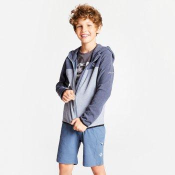 Ebullient leichter Fleece-Hoodie für Kinder Meteor Grey