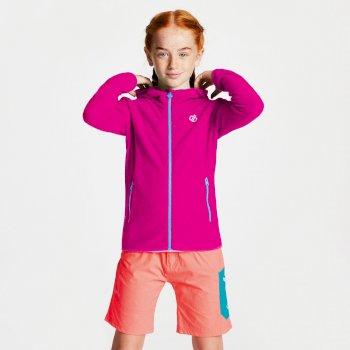 Ebullient leichter Fleece-Hoodie für Kinder pink