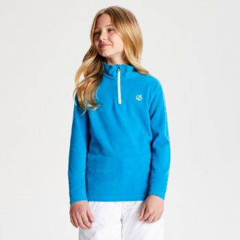 Freehand - Kinder Pullover - leichtes Fleece - 1/2-Reißverschluss Atlantic Blue