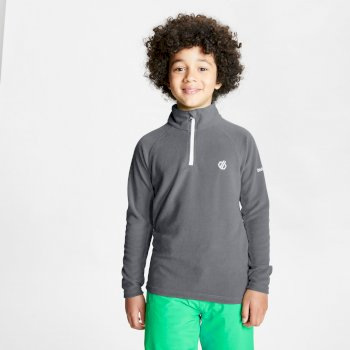 Dare 2b Kids' Freehand Half Zip Lightweight Fleece - Aluminium Grey