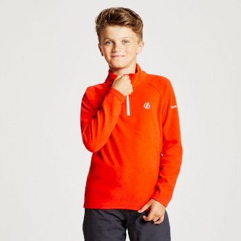 Freehand - Kinder Pullover - leichtes Fleece - 1/2-Reißverschluss Fiery Red