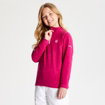 Freehand leichtes Fleece mit halblangem Reißverschluss für Kinder Fuchsia