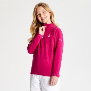 Freehand - Kinder Pullover - leichtes Fleece - 1/2-Reißverschluss Fuchsia