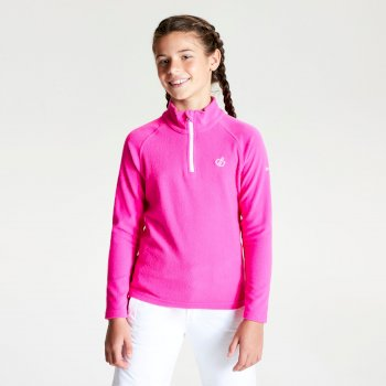Kids' Freehand Half Zip Lightweight Fleece - Cyber Pink