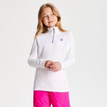 Mountfuse Fleece mit halbem Reißverschluss für Kinder White
