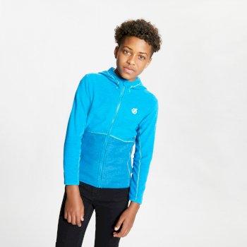 Genesis Kapuzenfleece mit durchgehendem Reißverschluss für Kinder Blau