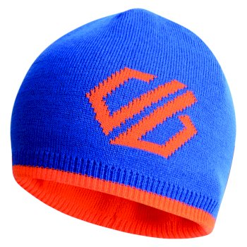 Dare2b Kids' Frequent Beanie Hat - Oxford Blue Vibrant Orange