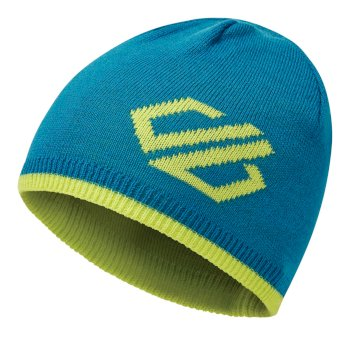 Dare 2b Kids' Frequent Beanie Hat - Petrol Blue Lime Punch