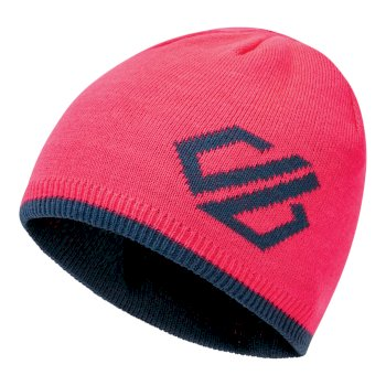 Dare 2b Kids' Frequent Beanie Hat - Neon Pink Dark Denim