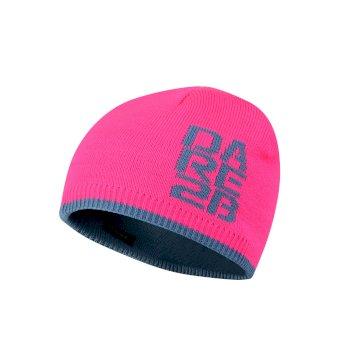 Dare 2b Kids Thick Cuff Reversible Beanie Hat - Cyber Pink