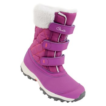 Dare2b Kids Skiway Ski Boots Ultra Purple Fiery Coral