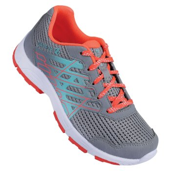 Kids' Razor Leichte Trainer Gravity Grey Fiery Coral