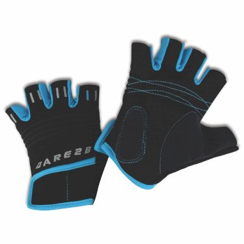 Dare2b Kids Cycle Mitts Black/Fluro Blue