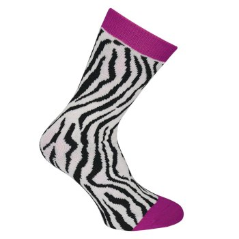 Dare 2b Kids Footloose III Ski Socks - Cyber Pink Animal Print