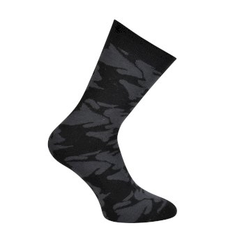 Dare2b Kids' Vigor Ski Socks - Ebony