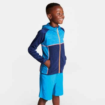 Curate Core - Kinder Midlayer-Jacke - Stretchstoff Atlantic Blue Clear Water