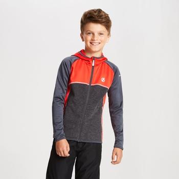 Curate Core - Kinder Midlayer-Jacke - Stretchstoff Feuriges Rot/Tiefschwarz