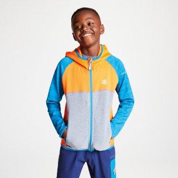 Curate Core - Kinder Midlayer-Jacke - Stretchstoff Vibrant Orange Atlantic Blue