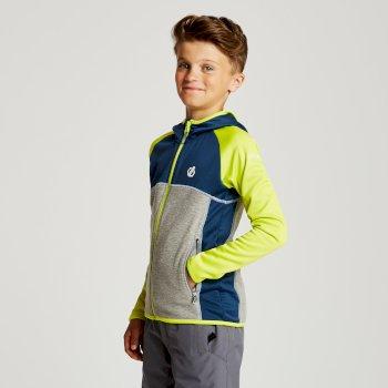 Curate Core - Kinder Midlayer-Jacke - Stretchstoff Admiralblau/Limone