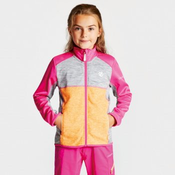 Exceed Core Stretch-Midlayer für Kinder pink-grau