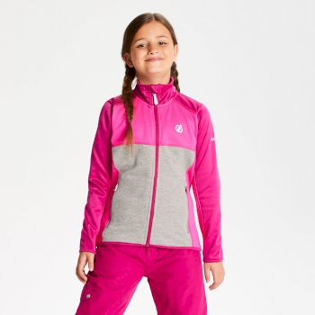 Exceed Core Stretch-Midlayer für Kinder Fuchsia Cyber Pink