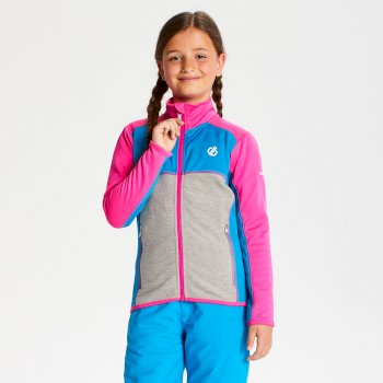 Exceed Core Stretch-Midlayer für Kinder Cyber Pink Atlantic Blue