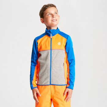 Exceed Core Stretch-Midlayer für Kinder Oxford Blue Vibrant Orange