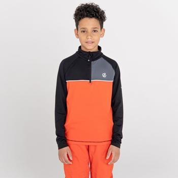 Formate Core Stretch-Midlayer mit halblangem Reißverschluss für Kinder Orange