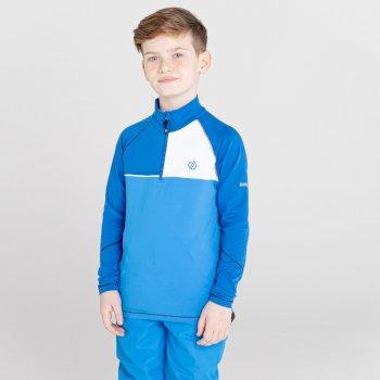 Formate Core Stretch-Midlayer mit halblangem Reißverschluss für Kinder Blau