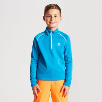 Consist Core - Kinder Midlayer-Shirt - Stretchstoff Atlantikblau
