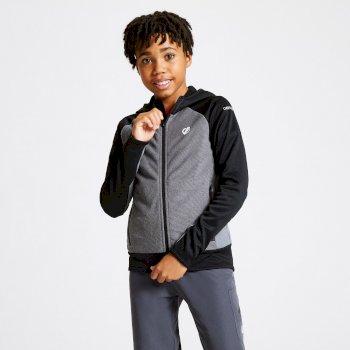 Twofold Core Stretch-Midlayer mit Kapuze für Kinder Grau