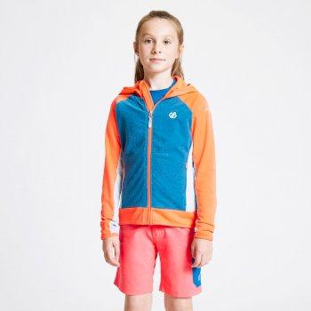 Twofold Core Stretch-Midlayer mit Kapuze für Kinder Orange