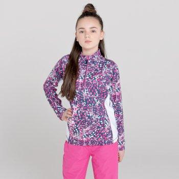 Commit leichter Core Stretch-Midlayer mit halblangem Reißverschluss für Kinder Rosa