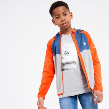 Hasty leichter Core Stretch-Midlayer mit Kapuze und durchgehendem Reißverschluss für Kinder Orange