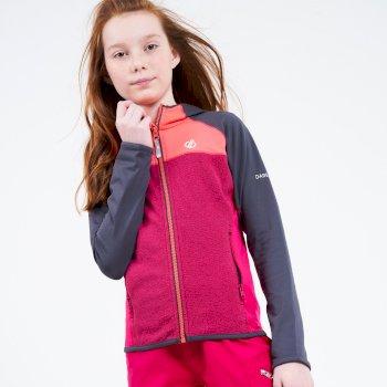 Hasty Leichter Core Stretch-Midlayer Mit Kapuze Und Durchgehendem Reißverschluss Für Kinder Grau