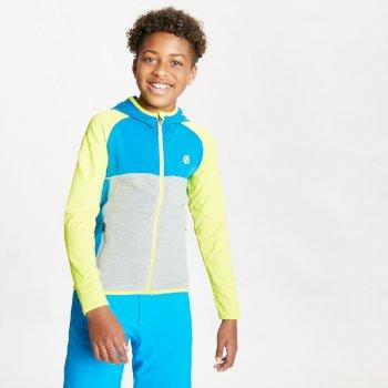 Hasty Leichter Core Stretch-Midlayer Mit Kapuze Und Durchgehendem Reißverschluss Für Kinder Gelb