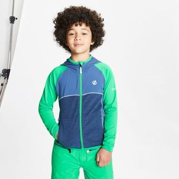 Hasty leichter Core Stretch-Midlayer mit Kapuze und durchgehendem Reißverschluss für Kinder Grün