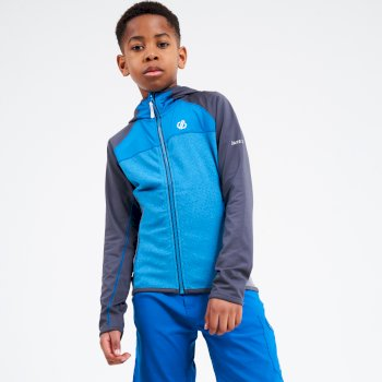 Hasty Leichter Core Stretch-Midlayer Mit Kapuze Und Durchgehendem Reißverschluss Für Kinder Blau