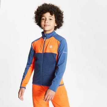 Except Leichter Core Stretch-Midlayer Mit Durchgehendem Reißverschluss Für Kinder Orange