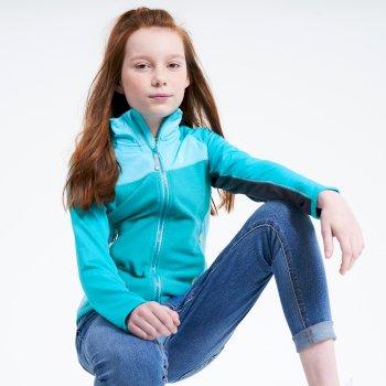 Except Leichter Core Stretch-Midlayer Mit Durchgehendem Reißverschluss Für Kinder Blau