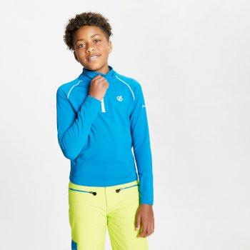Consist II leichter Core Stretch-Midlayer mit halblangem Reißverschluss für Kinder Blau