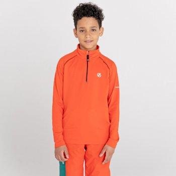 Consist II leichter Core Stretch-Midlayer mit halblangem Reißverschluss für Kinder Orange