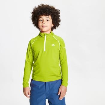 Consist II leichter Core Stretch-Midlayer mit halblangem Reißverschluss für Kinder Gelb