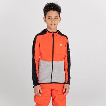 Hasty III Core Stretch-Midlayer mit Kapuze und durchgehendem Reißverschluss für Kinder Orange